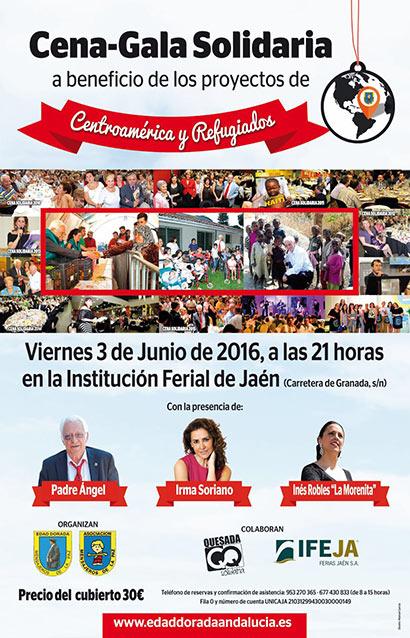 Cena-Gala Solidaria Mensajeros de la Paz-Edad Dorada Andalucía