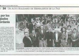 Crónica de Diario Jaén sobre la gala solidaria de Mensajeros de la Paz