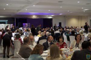 VIII Cena-gala solidaria Edad Dorada Mensajeros de la Paz en Jaén: asistentes
