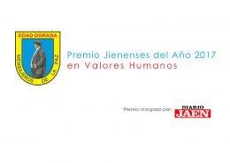 Edad Dorada premio Jienenses del Año 2017 en Valores Humanos