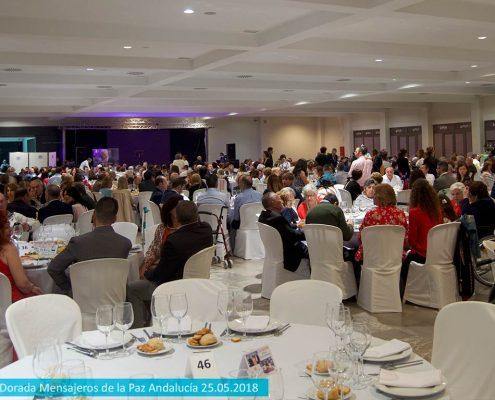 Asistentes a la VIII Cena solidaria Edad Dorada en Jaén